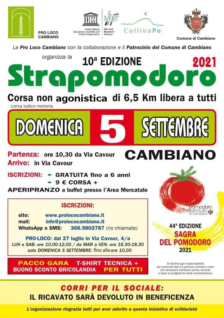 10° edizione della STRAPOMODORO